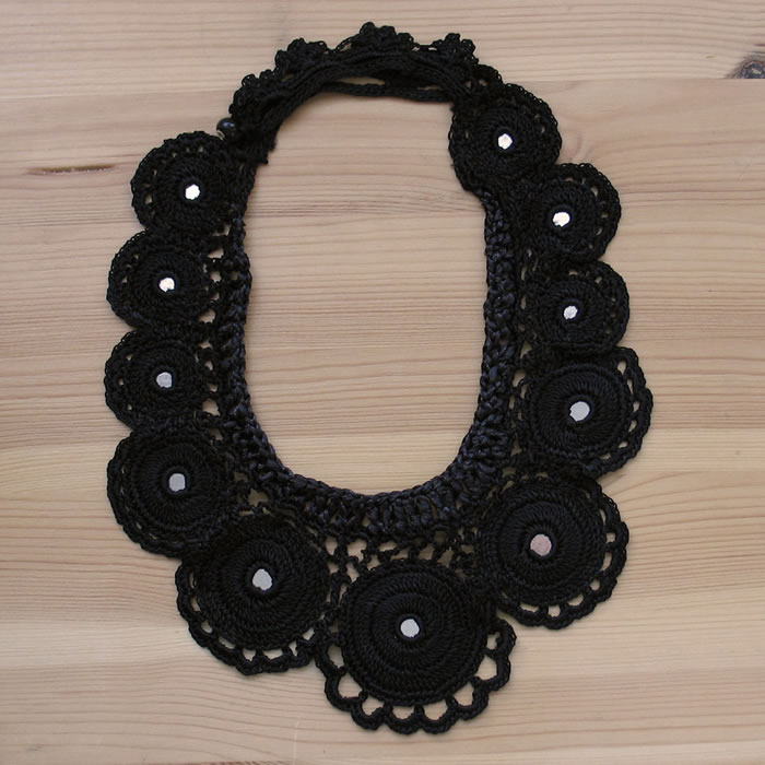 Crochet silk necklaces