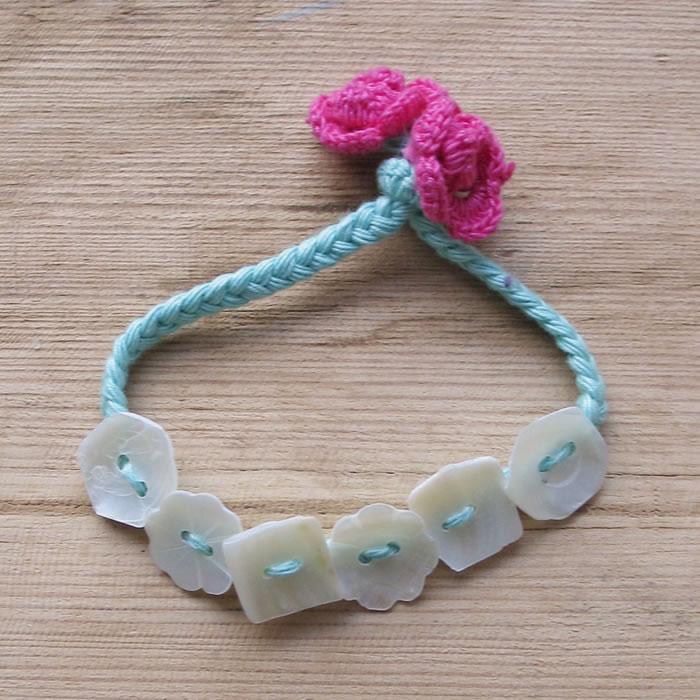 Cotton flower shell bracelets