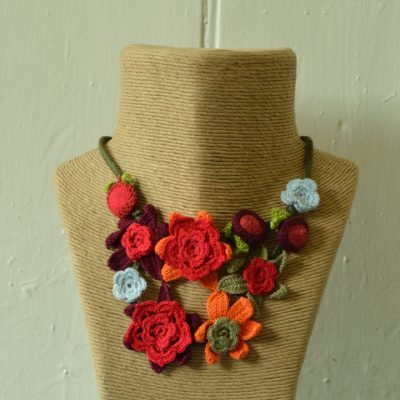 Crochet two strand necklaces
