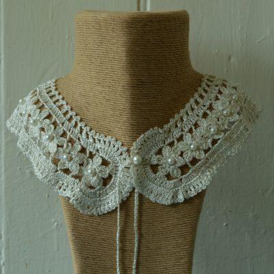 Crochet silk necklaces