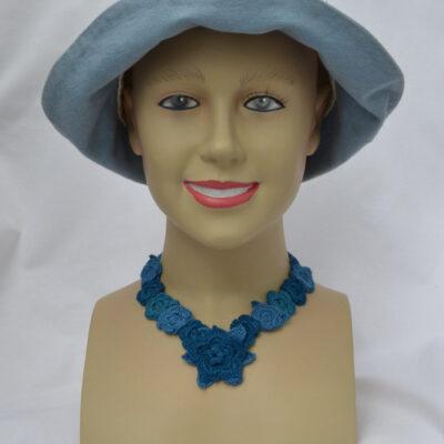Crochet flower necklaces