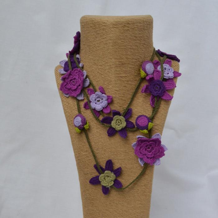 long crochet necklace